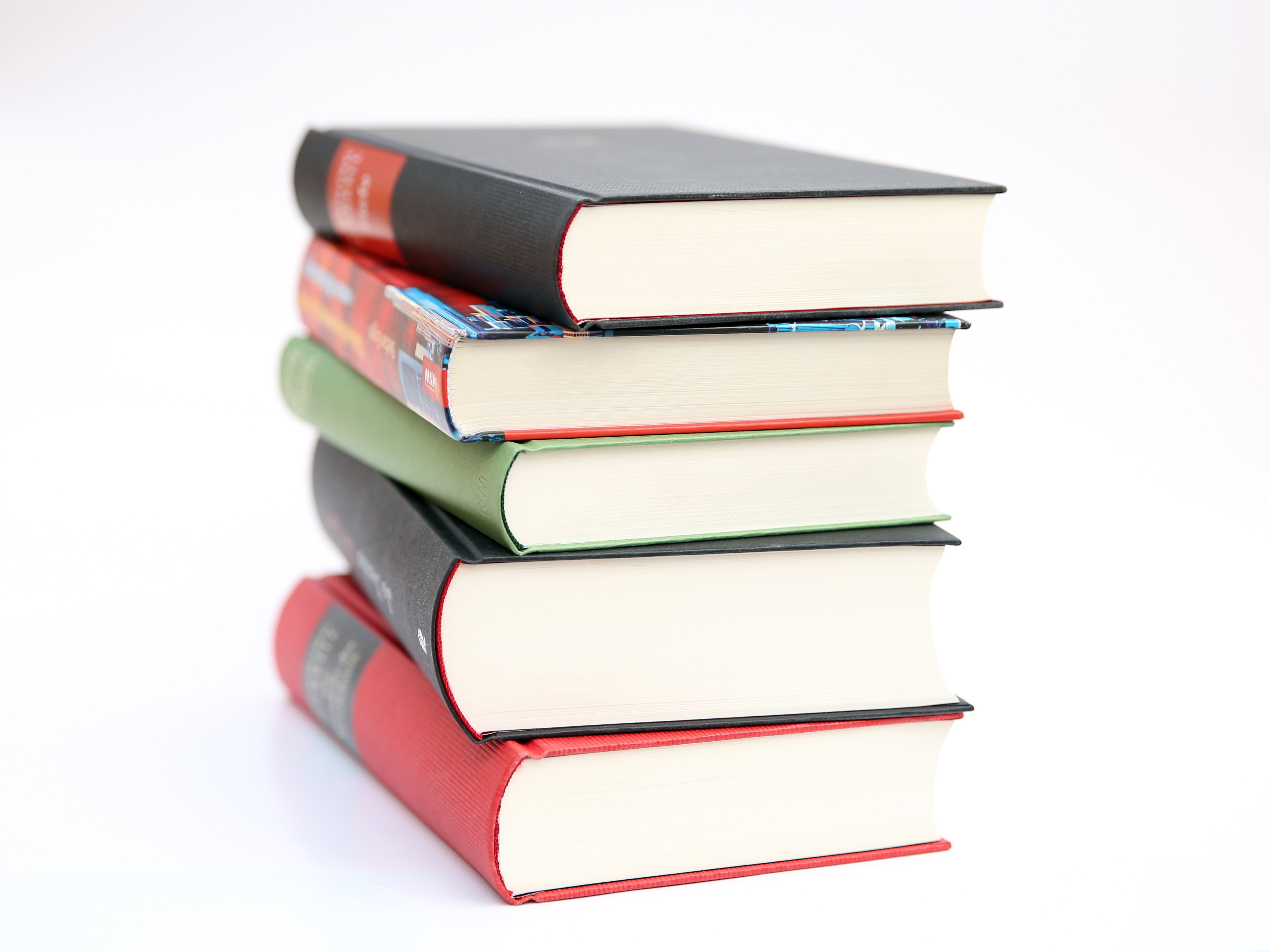 Stabel med bøker